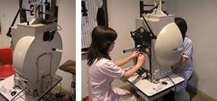 (1)動的視野検査(ゴールドマン視野計)
